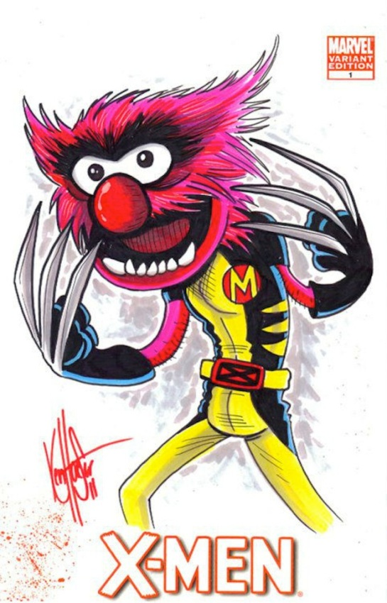 Ken haeser X-Men-Muppets-Mashup-1